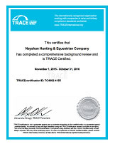 Nayshan TRACE Certification